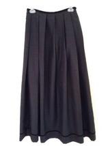 Emma James Size 6 Washable Long Black Formal Skirt EUC Free US Shipping - $14.73