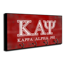 Kappa Alhpa Psi Fraternity Distressed Design Wood Key Hanger Dog Leash - $27.67