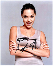 ANGELINA JOLIE  Authentic  Original  SIGNED AUTOGRAPHED PHOTO w/ COA 525 - $80.00