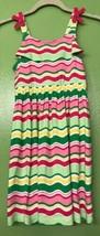 2012 Girls Size 7 Gymboree Knit Summer Sundress Wavy Striped Dress Lime ... - $14.18