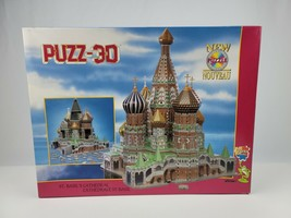 1994 St. Basil's Cathedral 3D Puzzle Foam Pieces 100& Complete in box w/ manual - $28.04