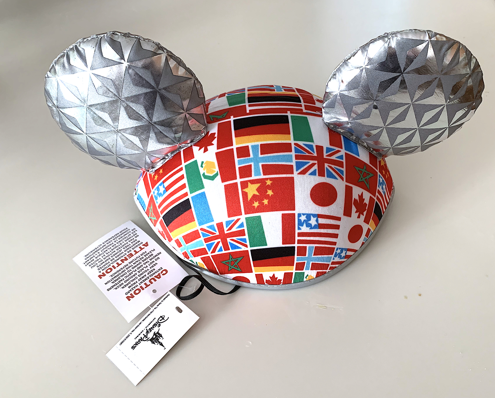 e47db3876e8 Walt Disney World Epcot Flags Mickey Mouse Ears Hat NEW- Disney Hats ...