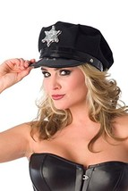 Velvet Kitten Cop Hat with Badge in Black Police Costume Accessory - One... - $11.19