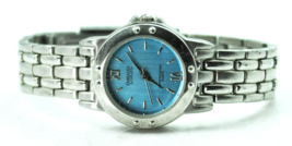 "Women's Embassy by Gruen Metallic Blue Dial Wristwatch 26mm 6-3/4"" Wrist - $7.12"