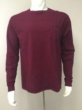 Hanes Tagless Long Sleeve T Shirt Maroon Dark Red Men Size L/G/G Preshrunk - $22.53