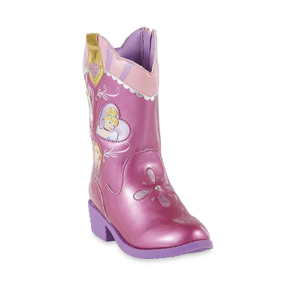 NEW Disney Princess Toddler Girls Cowboy Boots Size 6 7 8 9 or 10 Rapunzel