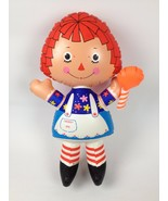 """VTG Ideal Toy 1973 Raggedy Ann 19""""Inflatable Doll Vinyl Plastic Blow Up Toy - $145.52"""