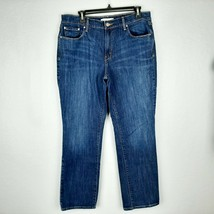 Levi's 505 Straight Women's Jeans Stretch Size 14 Blue RP12 - $12.37