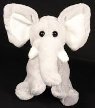 "Animal Adventure Stuffed Plush Baby Gray Elephant Beanie 6"" Sitting Soft 2006 - $4.99"