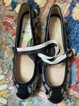 Coach Black Jacquard Slip On Ballet Shoes Size 7.5 - $65.34