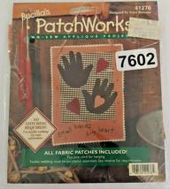 Vintage Bucilla's Patchworks No Sew Applique Projects Small Hands Big Heart - $9.49