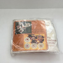 vintage 1978 crewel embroidery kit four sachets with floral pattern kit 3347 NOS - $12.17