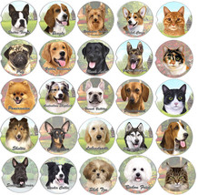 Car Coaster Pet Dog Cat fits Auto Cup Holder Various Breeds Stoneware Ab... - $7.50