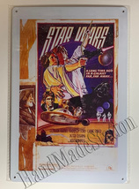 "Star Wars Galaxy Far away Poster Wall Metal Sign plate Home decor 11.75"" x 7.8"""