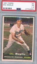 1957 Topps #5 Sal Maglie PSA 1.5 Dodgers  - $22.72