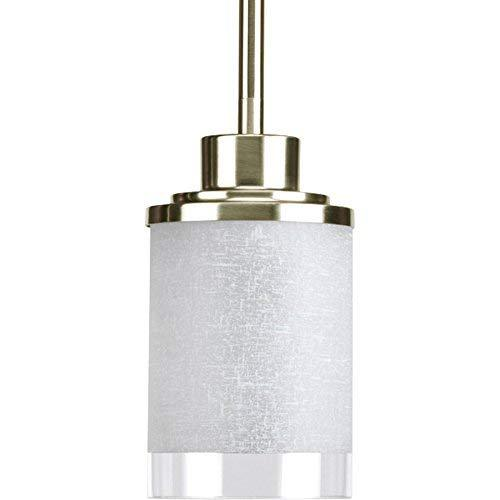 Progress Lighting Alexa Brushed Nickel Mini Transitional Bell Pendant - $63.24