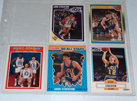 5 Lot 1988 1989 1990 John Stockton Fleer 127, 156, 163, 9, 189 Basketbal... - $9.39