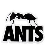 Ants Ushuaia Ibiza Club Sticker Large Ant Black Logo Dance Music - £5.01 GBP