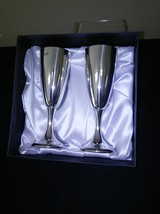 Pewter Champagne Flutes FREE SHIPPING - $85.00