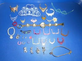BARBIE and Other Doll Dress UP Accessories CROWNS SUNGLASSES NECKLACES ETC - $19.79