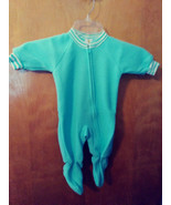 NW0T  SESAME STREET GIRLS PALE GREEN  Fleece Sleeper with Feet, 0-6 Mos.  - $6.53