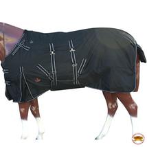"""84"""" Hilason 1200D Winter Waterproof Poly Horse Blanket Belly Wrap Black U-L-84 - $84.99"""