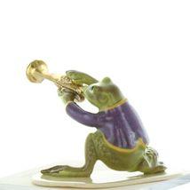 Hagen Renaker Miniature Frog Toadally Brass Band Trumpet Ceramic Figurine image 5