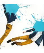 J. Barrios Giclée Blue Jump Painting - $1,500.00+