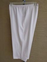 New Roaman's Plus Small Capri Length Leggings in stretch knit White - $7.69