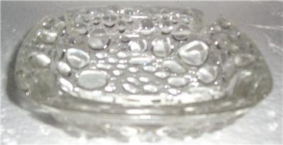Vintage Blenko Mid-Century Clear Glass Pebble Stone Design Ashtray Table Display