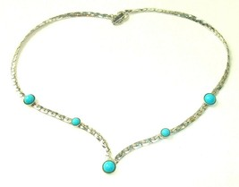 Vintage Sarah Coventry Summer Skies Faux Turquoise Necklace 70s southwest - $14.84