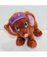 "Barbie Dog Puppy Barking Panting Brown with Pink Visor Plush Mini 5"" - $8.99"
