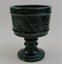 Hull Green Leaf Pattern F63 Pedestal Planter Vase  Made in the USA Vinta... - $24.75