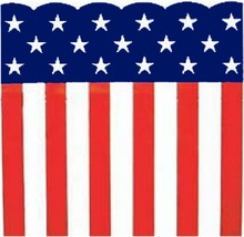 """Patriotic Heavy Plastic Bunting Roll 29"""" X 300' Stars & Stripes Print - $44.19"""
