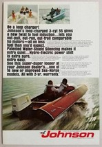 1969 Print Ad Johnson Outboard Motor Loop Charged 3-Cyl 55 HP - $12.49