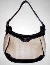 ETIENNE AIGNER Small Handbag Purse Lined Woven Straw Material + Faux Leather - $25.73