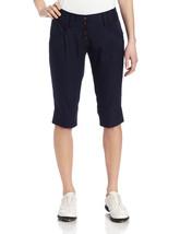 ADIDAS CAPRI GOLF Womens Pant PANTS NAVY CLIMALITE STRETCH SZ 6 NEW $70 Z16004 - $36.42
