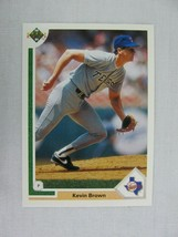 Kevin Brown Texas Rangers 1991 Upper Deck Baseball Card 472 - $0.98
