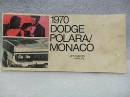 Dodge Polara 1970 Owners Manual 16329 - $18.76
