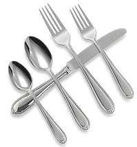 Wedgwood Knightsbridge 5 Piece Place Setting Stainless Flatware New In Box - $34.90