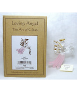 2015 Loving Angel Rose LAR Adorned with Swarovski Crystal Christmas Orna... - $19.79