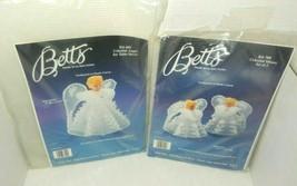 2 Vintage Betts Needle Art Plastic Canvas Kit Celestial Misses & Celesti... - $26.00