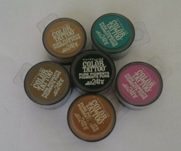 Maybelline Color Tattoo Pure Pigments Lot-6 Eyeshadow Shades 5,20,30,35,... - $13.84