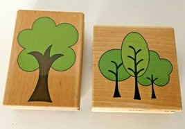 Stampabilities Tree Lot of 2 Rubber Stamps Simple Tree & 3 Simple Trees ... - $12.50