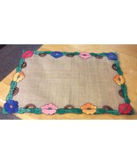 Linen Appliqué Placemats In 3 Sizes Italy - $14.01