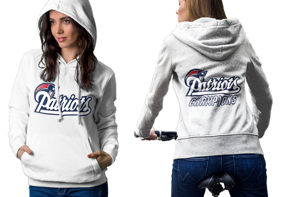 England patriots hoodie classic women white