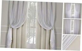 Exclusive Home Curtains Catarina Layered Solid Blackout and Sheer Window... - $90.13
