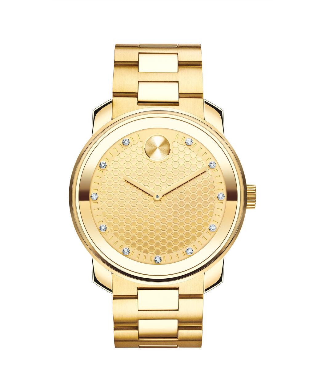 Movado Bold Gold-Tone Mens Watch 3600374