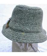 NWT Hanna  Irish Walking Hat Green Herringbone Wool Tweed Bucket XXL IRE... - $60.00