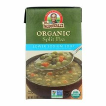 Dr. Mcdougall's Organic Split Pea Lower Sodium Soup - Case Of 6 - 17.6 Oz. - $36.97